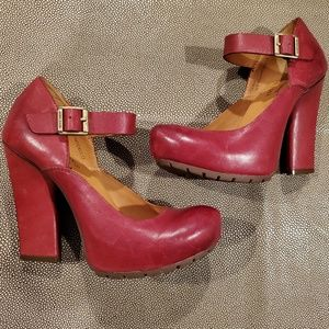 Kork Ease Red Priscilla Mary Janes